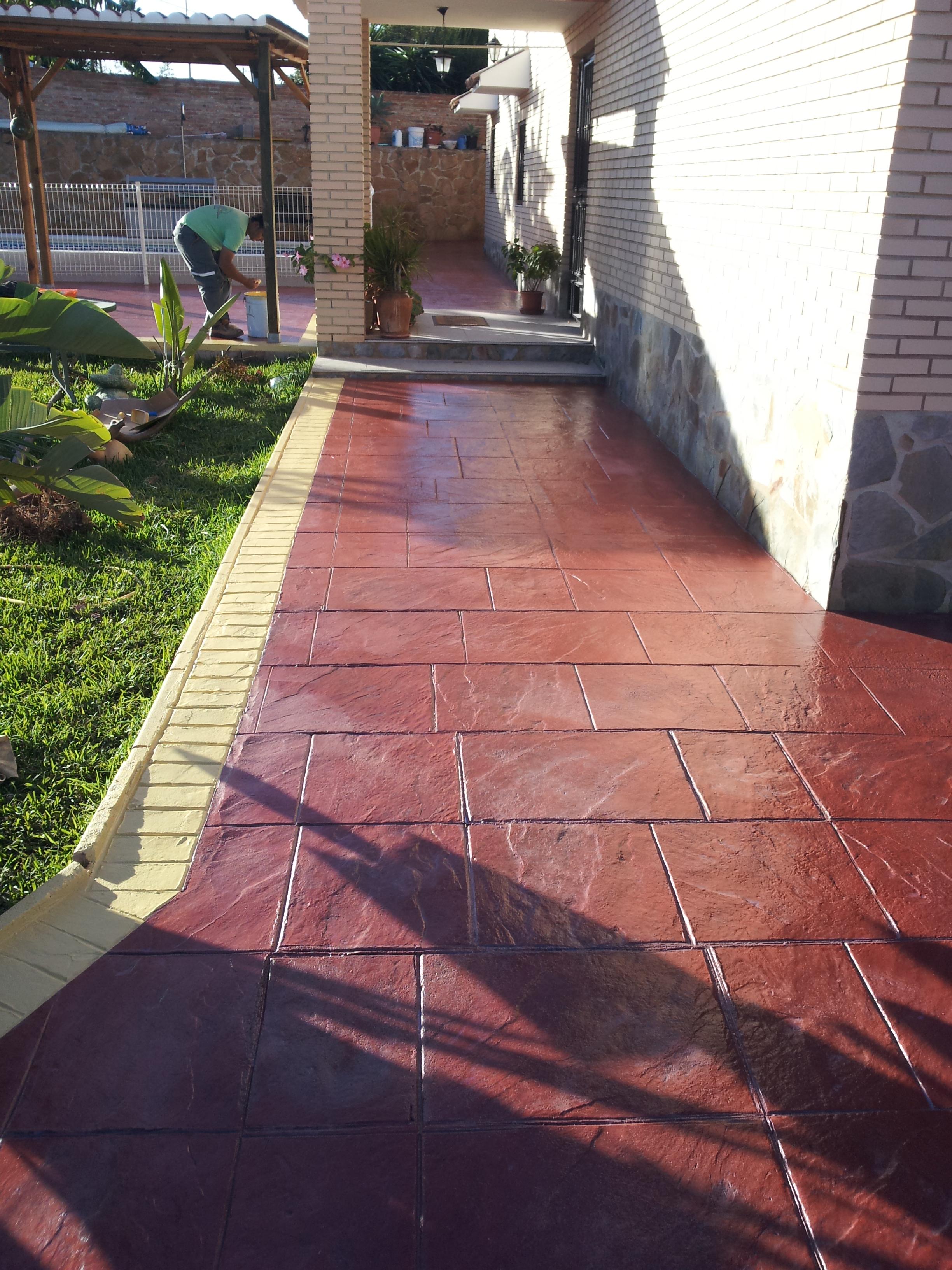 Hormigon impreso salamanca hormigon pulido pavimento impreso hormigon imp - Prix terrasse beton 60m2 ...